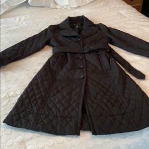 H&M Quilted Polyester Trench Coat Size 10 EUC